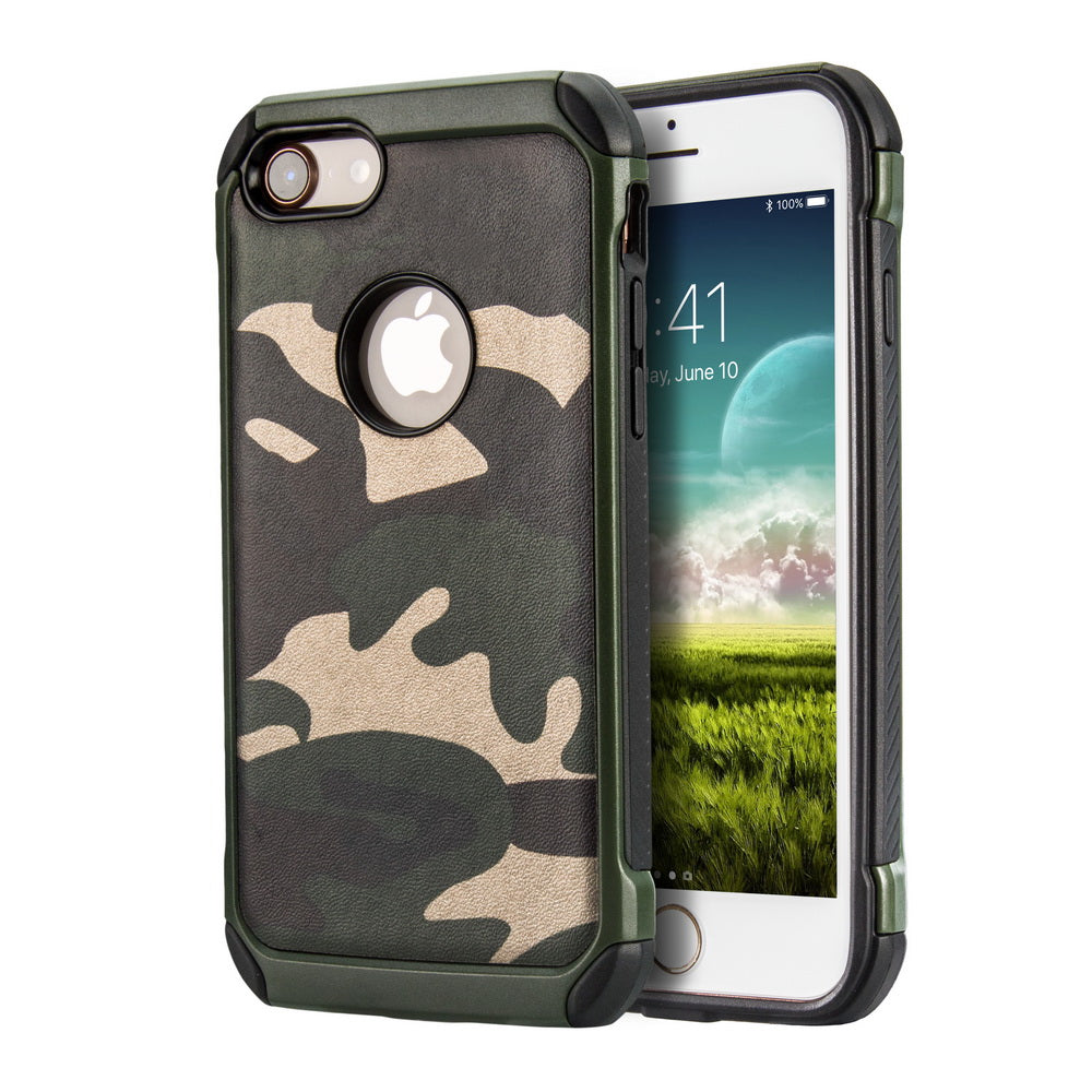 separation shoes d2a6a 25cd1 Tough Armor camouflage iPhone 7 Case/iPhone 8 Case with Reinforced TPU  Leather Hybrid Rugged [Shock proof] [Thin Slim Fit] [Anti Scratch]  [Anti-Slip] ...