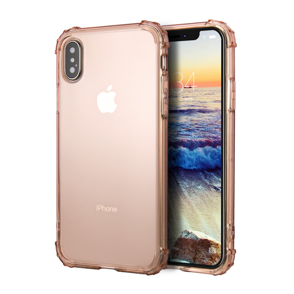 free shipping 38bc5 904e8 Crystal Clear iPhone X Case/iPhone 10 Case with Enforced Corner Drop  Protection, Crystal Clear [Thin Slim Fit] [Bumper Cushion] [Shock  Absorption] ...