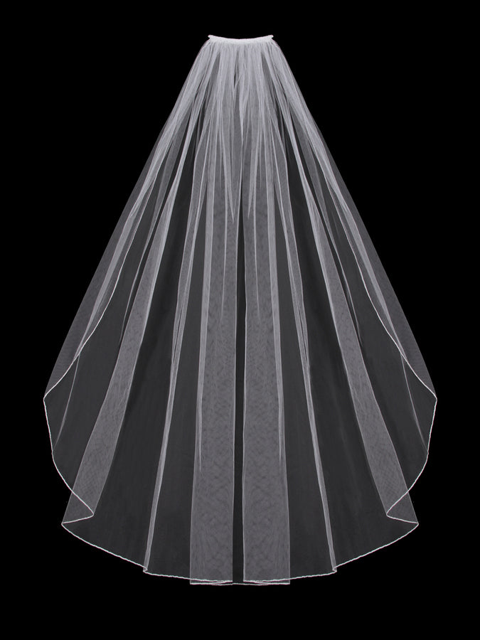 V202SF Single Tier Veil - Utah wedding accessories - Draper Bridal Store