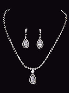 En Vogue NL1555 - [Bridal Necklace Set NL1555] - Wedding Accessories - Bridal Closet - Bridal Dresses and Accessories