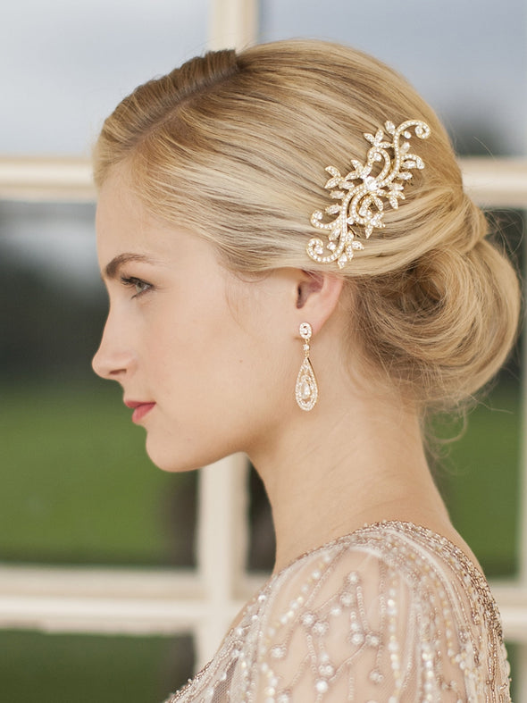 4093E Earrings - Bridal Earrings - Wedding Earrings - Formal Earrings - Sandy Bridal Shop - Wedding Dresses