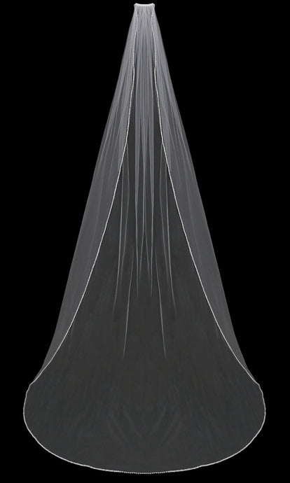 V802C Cathedral Veil - Utah wedding accessories - Draper Bridal Store
