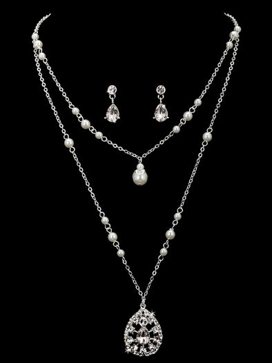 En Vogue NL1861 - [Bridal Necklace Set NL1861] - Wedding Accessories - Bridal Closet - Bridal Dresses and Accessories