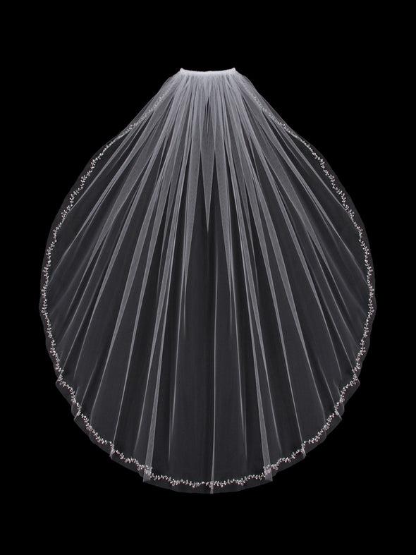 V803SW Single Tier Veil - Utah wedding accessories - Draper Bridal Store