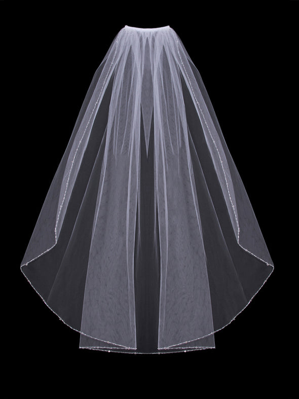 V406SW Single Tier Veil - Utah wedding accessories - Draper Bridal Store