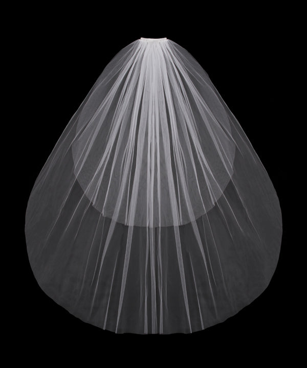 V03F Cut Tulle Two Tier Veil