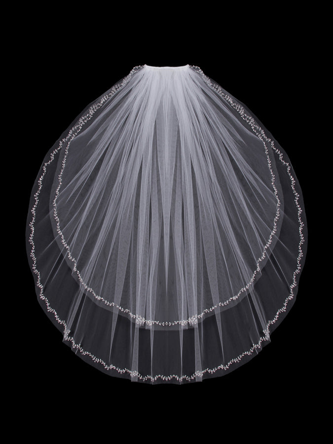 V803W Two Tier Veil - Utah wedding accessories - Draper Bridal Store