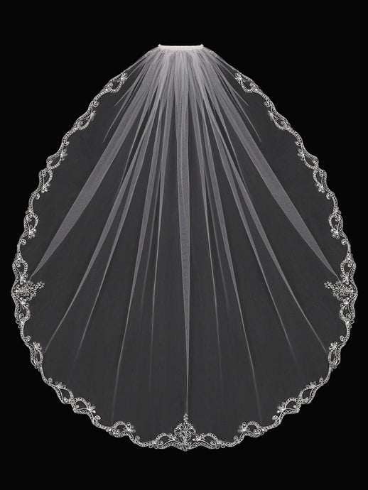 V1794SF Single Tier Veil - Utah wedding accessories - Draper Bridal Store