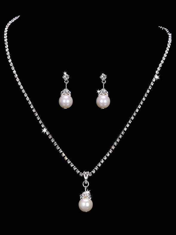 En Vogue NL1651 - [Bridal Necklace Set NL1651] - Wedding Accessories - Bridal Closet - Bridal Dresses and Accessories