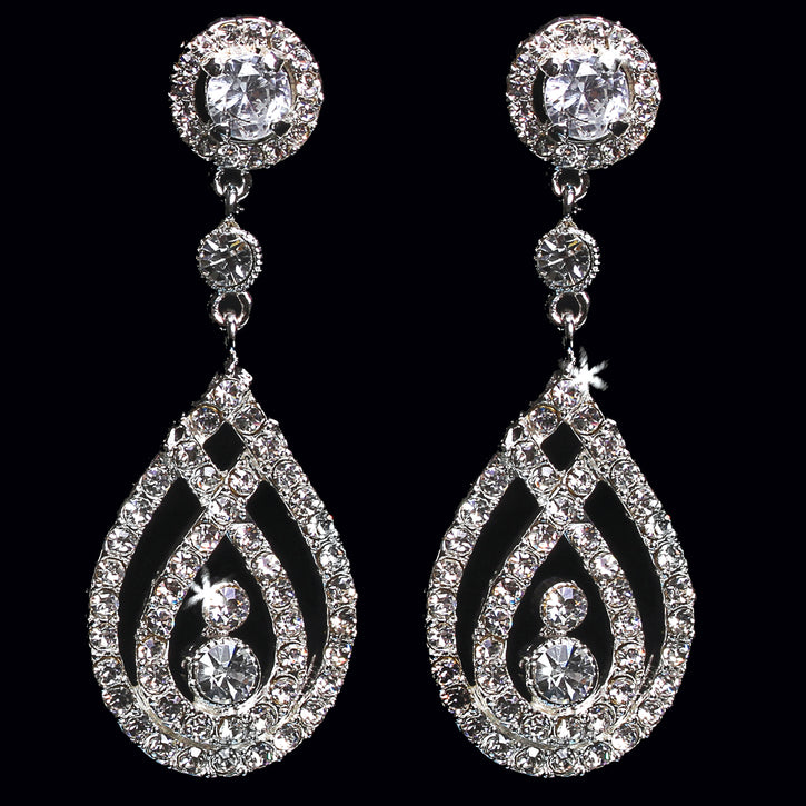 En Vogue E1362 - [Bridal Earrings E1362] - Wedding Accessories - Bridal Closet - Bridal Dresses and Accessories