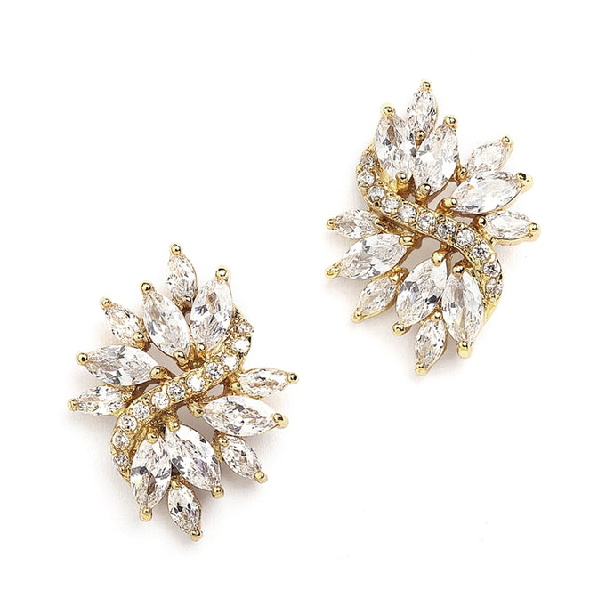 4014E Earrings - Bridal Earrings - Wedding Earrings - Formal Earrings - Sandy Bridal Shop - Wedding Dresses