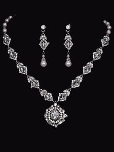 En Vogue NL1754 - [Bridal Necklace Set NL1754] - Wedding Accessories - Bridal Closet - Bridal Dresses and Accessories