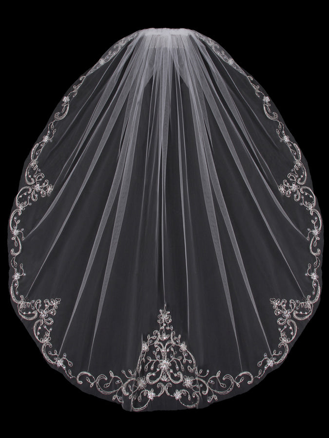 V704SF Single Tier Veil - Utah wedding accessories - Draper Bridal Store