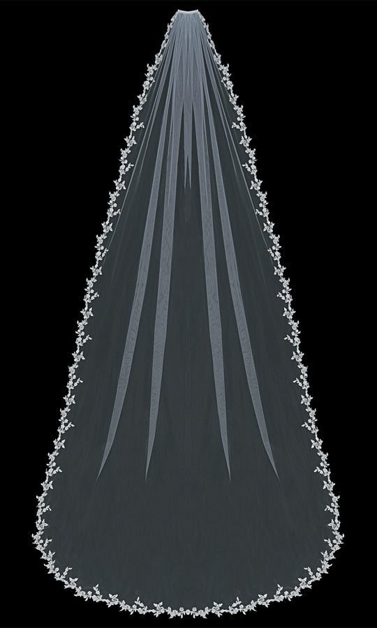V1392C Cathedral Veil - Utah wedding accessories - Draper Bridal Store
