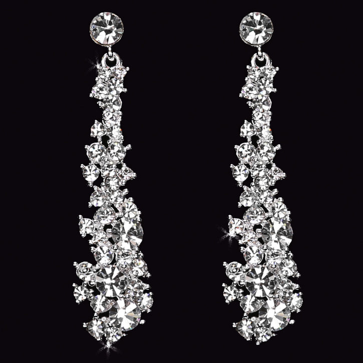 En Vogue E1561 - [Bridal Earrings E1561] - Wedding Accessories - Bridal Closet - Bridal Dresses and Accessories