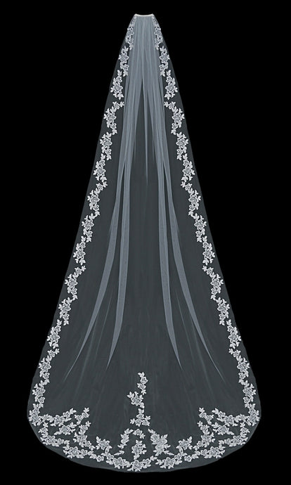 V1597C Cathedral Veil - Utah wedding accessories - Draper Bridal Store