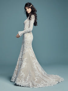 Maggie Sottero is one of the most recognized and sought after bridal gown manufacturers in the world. Established in 1997, Maggie Sottero redefined couture bridal fashion with its commitment to impeccable styling and incomparable fit at an affordable price. #utahbridalshop #modestweddingdress #modest #longsleeves #bridalshop #bridalcloset #weddinggown #bride #lacegown #weddingdress #templeready