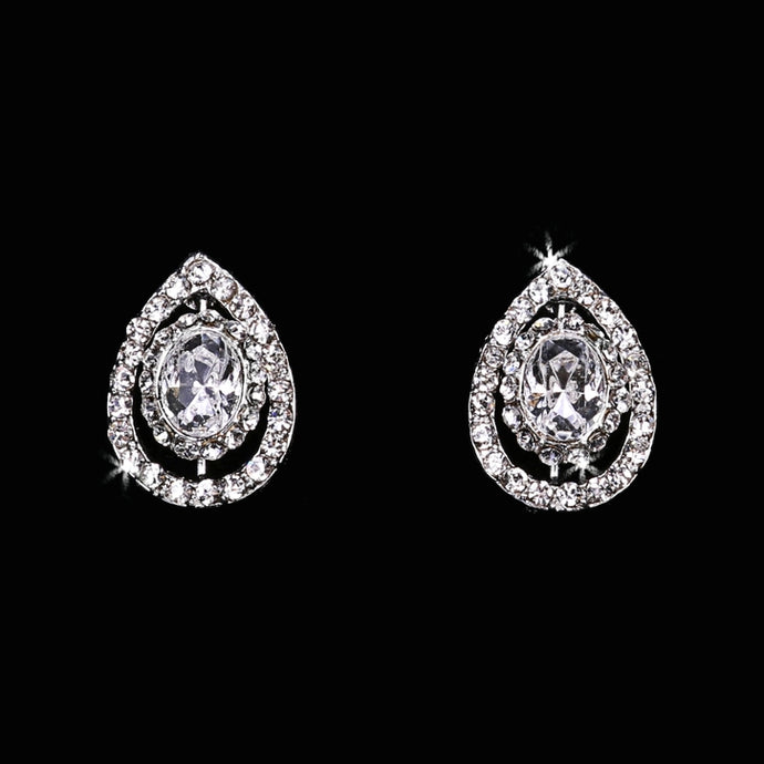 En Vogue E1665 - [Bridal Earrings E1665] - Wedding Accessories - Bridal Closet - Bridal Dresses and Accessories