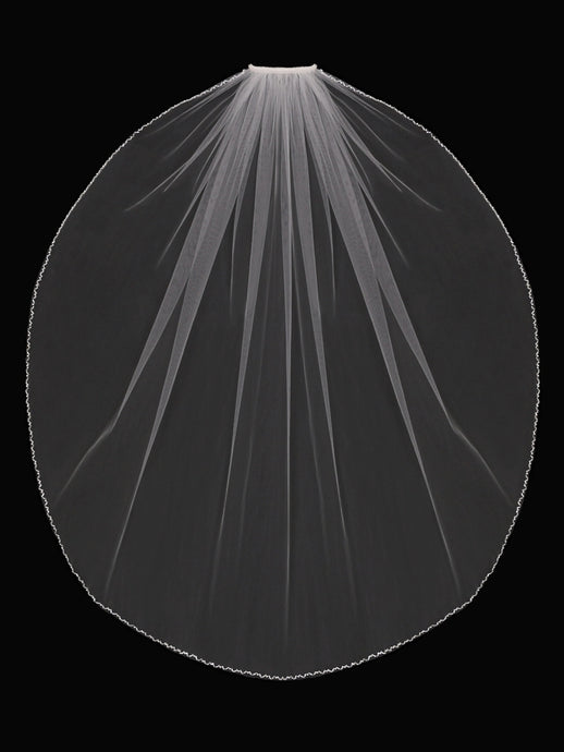 V1792SF Single Tier Veil - Utah wedding accessories - Draper Bridal Store
