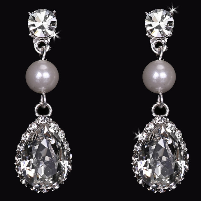 En Vogue E1767 - [Bridal Earrings E1767] - Wedding Accessories - Bridal Closet - Bridal Dresses and Accessories