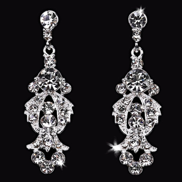 En Vogue E1666 - [Bridal Earrings E1666] - Wedding Accessories - Bridal Closet - Bridal Dresses and Accessories