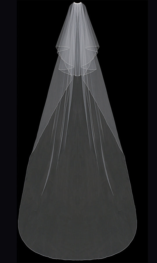 V202C Cathedral Veil - Utah wedding accessories - Draper Bridal Store