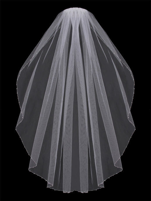 V603SF Single Tier Veil - Utah wedding accessories - Draper Bridal Store
