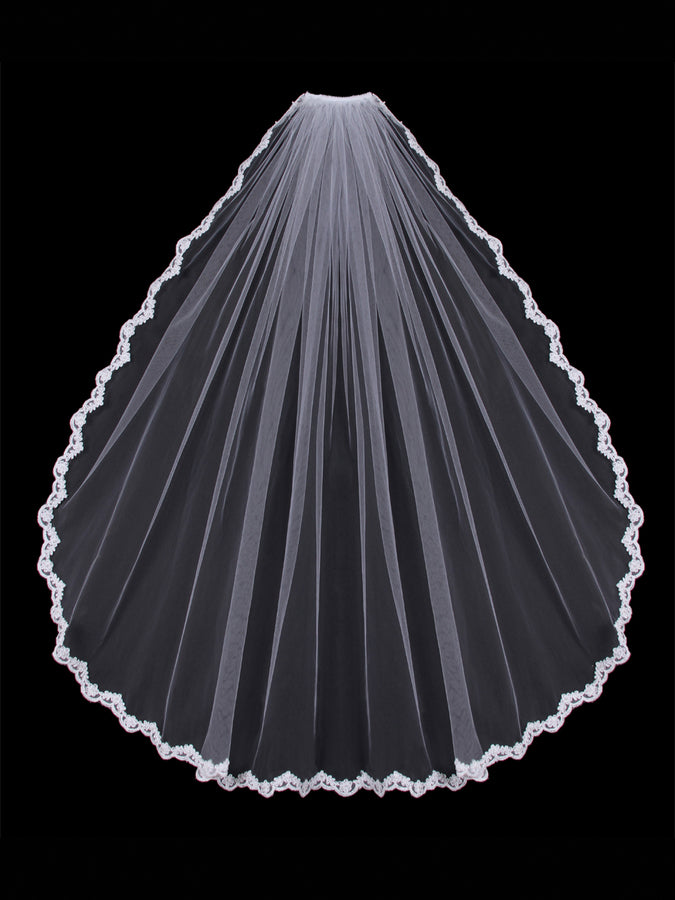 V451SF Single Tier Veil - Utah wedding accessories - Draper Bridal Store