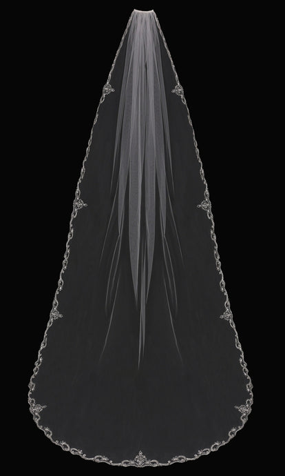 V1794C Cathedral Veil - Utah wedding accessories - Draper Bridal Store
