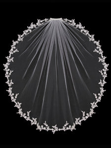 V1392SW Single Tier Veil - Utah wedding accessories - Draper Bridal Store