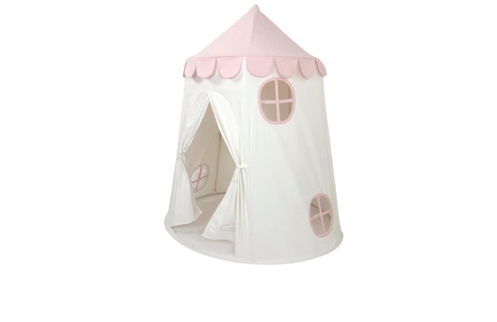 Tower Tent in Pink and White