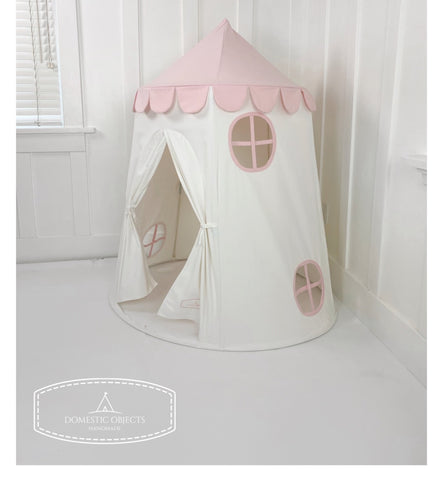 PRE ORDER: Tower Tent in Pink and White