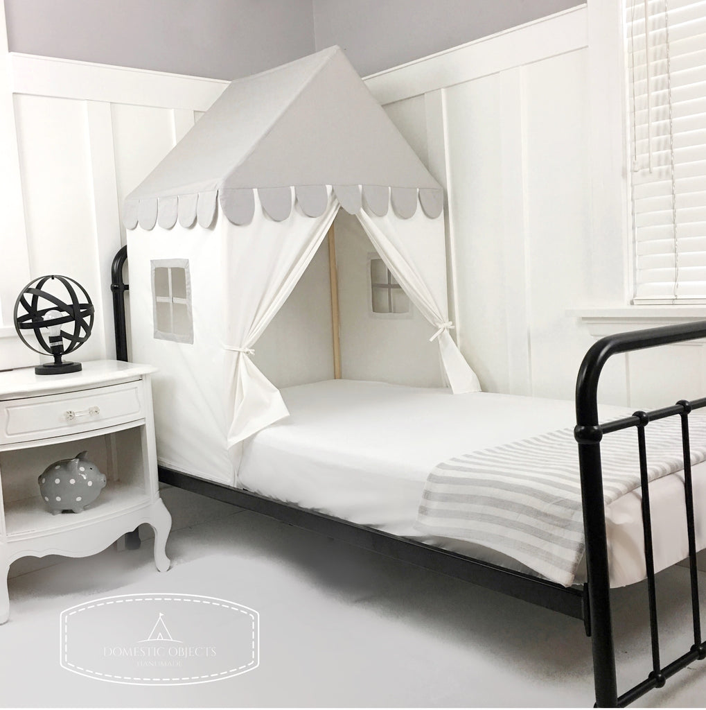 The 'Sweet Dreams' Play House Bed Canopy -Grey