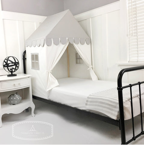 "The ""Sweet Dreams"" Play House Bed Canopy -Grey"