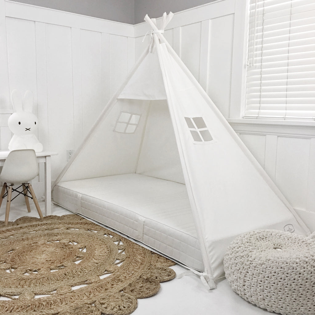 Play Tent Canopy Bed In 100 Cotton Cream Canvas Domestic Objects