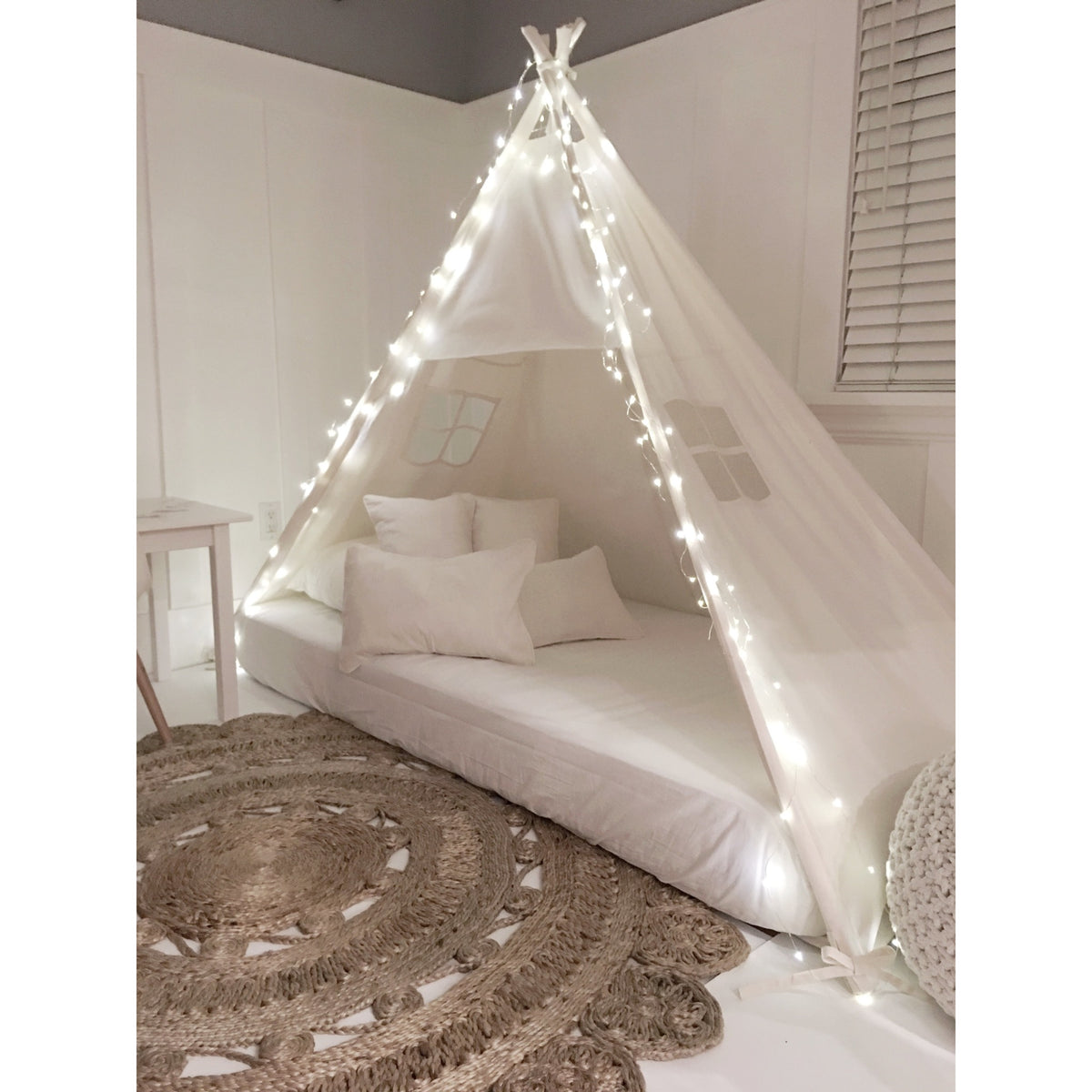 Play Tent Canopy Bed In 100 Cotton Natural Canvas