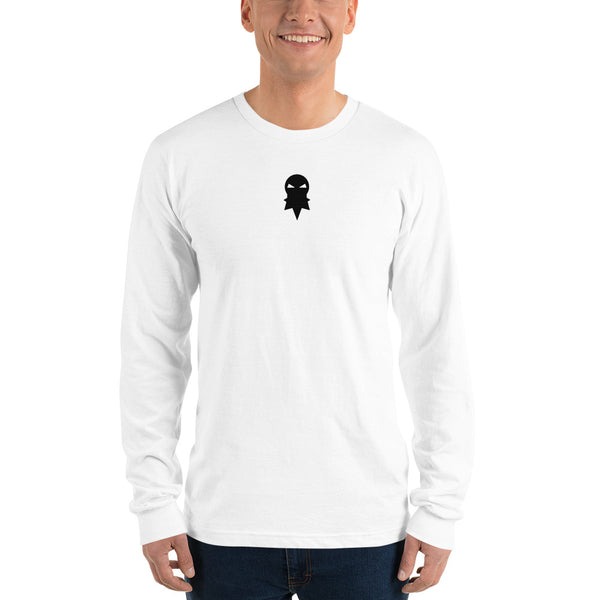 Beard In The Wind - Logo - White long sleeve t-shirt