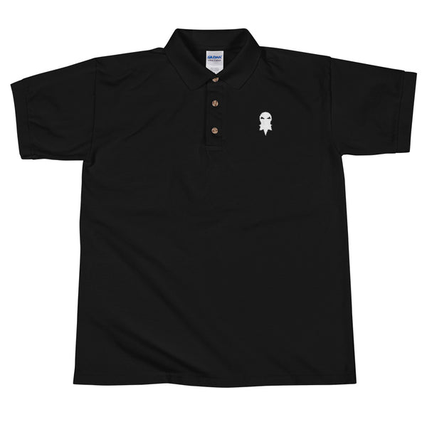 Beard In The Wind -- Polo -- Black with White Logo