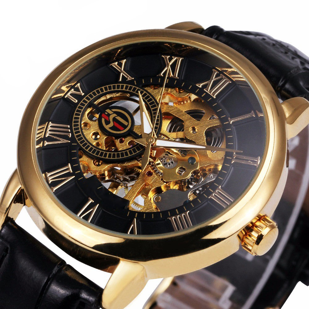 Gold Poseidon's Mechanical Watch