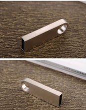 Load image into Gallery viewer, Water Proof Gold/Silver USB Flash Drive 4GB to 64GB Keychain Style