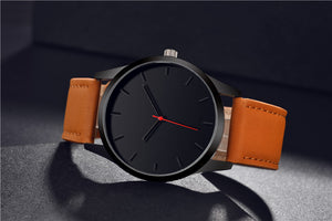 Elegant Leather Men's Watch