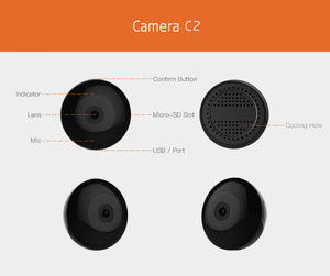 Wearable Mini Camera HD Wearable w/ Motion Sensor