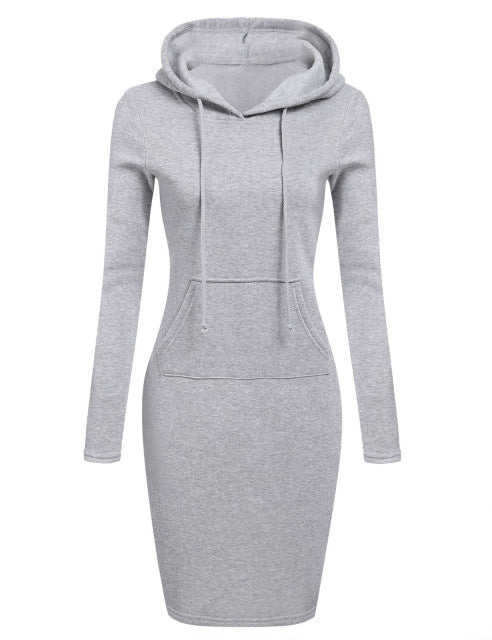 Long Sleeve Hooded Mini Dress