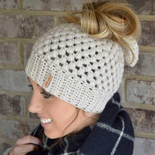 Load image into Gallery viewer, Warm Knit Fashion Ponytail Beanie