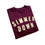 Simmer Down Felt Patch Crewneck Sweatshirt maroon