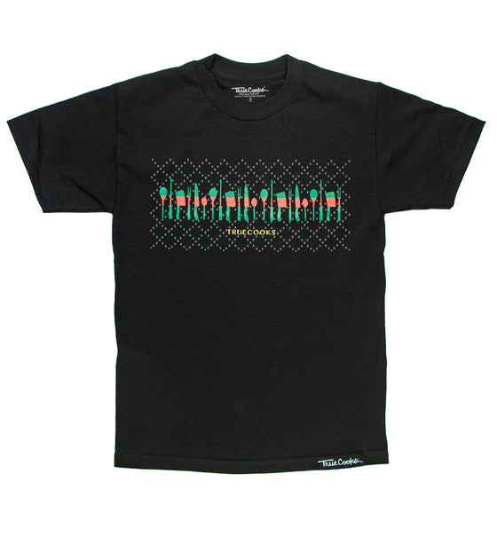 Red & Green Stripe Tee