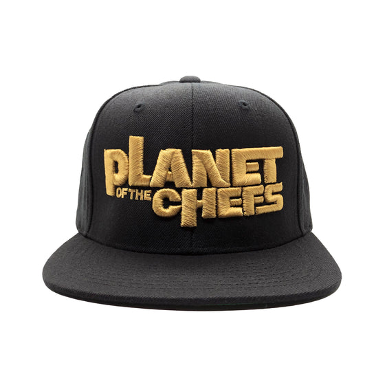 Planet Of The Chefs Gold Snapback black color