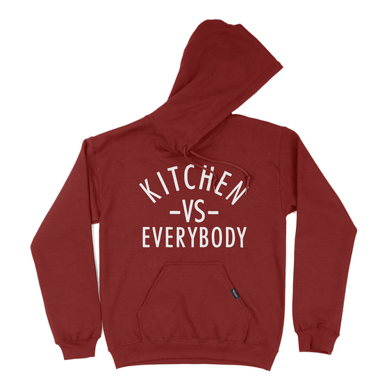 kitchen vs everybody hoodie red