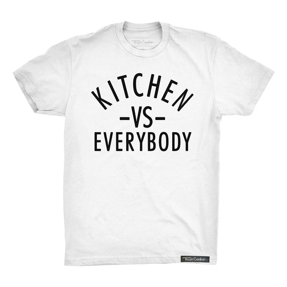 Kitchen vs Everybody Tee white