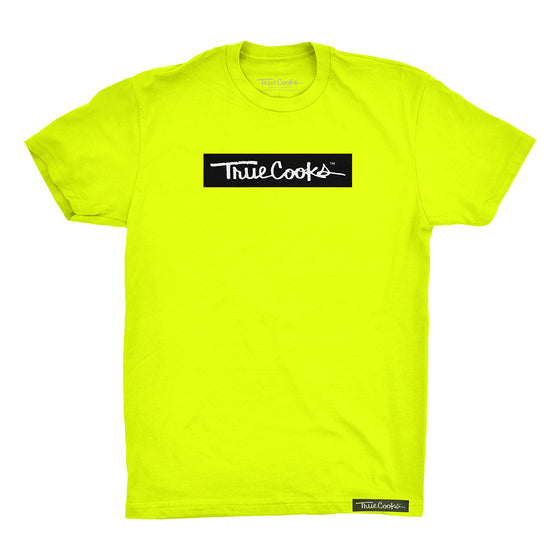 Safety Yellow Box Logo Tee